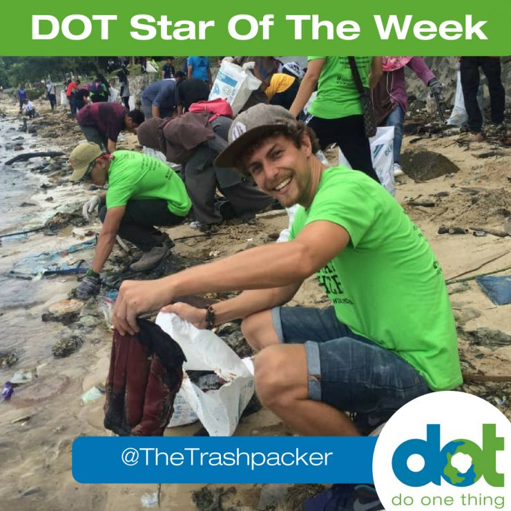 Tijmen Sissing DOT Star of the week Trashpacker beach cleanups