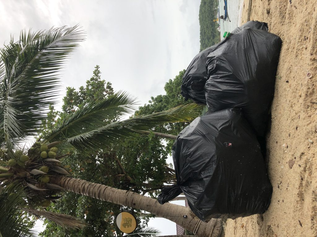 amount of bags collected